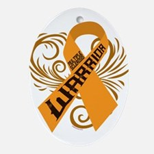 Multiple Sclerosis Warrior Ornament (Oval)