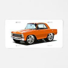 BabyAmericanMuscleCar_66NovA_Orange Aluminum Licen