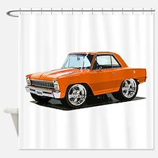 BabyAmericanMuscleCar_66NovA_Orange Shower Curtain
