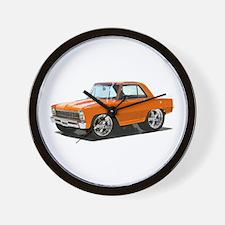 BabyAmericanMuscleCar_66NovA_Orange Wall Clock
