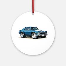 BabyAmericanMuscleCar_70NovA_Blue Ornament (Round)