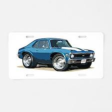 BabyAmericanMuscleCar_70NovA_Blue Aluminum License