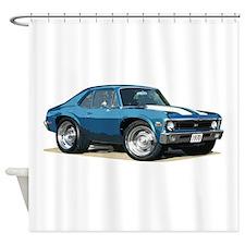 BabyAmericanMuscleCar_70NovA_Blue Shower Curtain