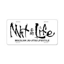 Mat Life - Living The BJJ L Aluminum License Plate
