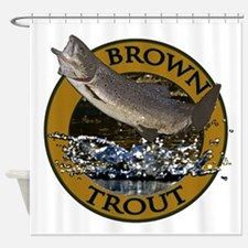 Brown trout 2 Shower Curtain