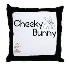 Cheeky Bunny Throw Pillow