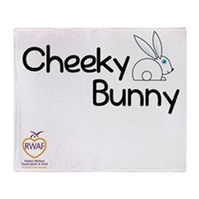 Cheeky Bunny Throw Blanket