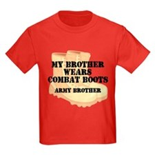 Army Brother Desert Combat Boots T-Shirt
