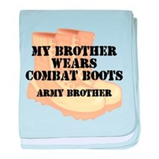 Army Brother Desert Combat Boots baby blanket
