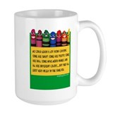 Crayons Large Mugs (15 oz)