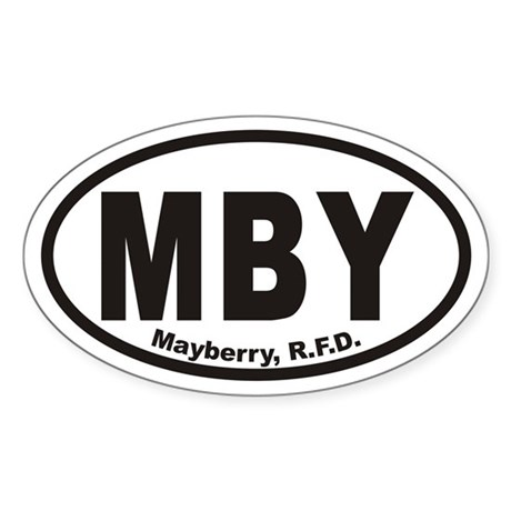 MBY Mayberry R.F.D. Euro Oval Sticker