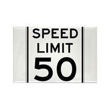 Speed Limit 50 Magnets