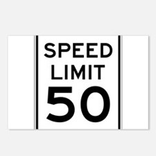 Speed Limit 50 Postcards (Package of 8)