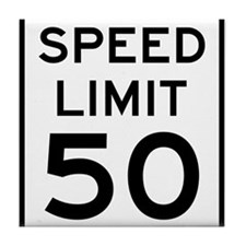 Speed Limit 50 Tile Coaster