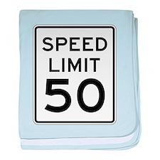 Speed Limit 50 baby blanket