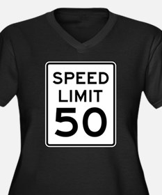 Speed Limit 50 Plus Size T-Shirt