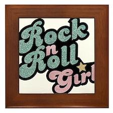 Rock N Roll Girl Framed Tile