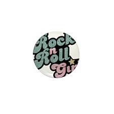Rock N Roll Girl Mini Button