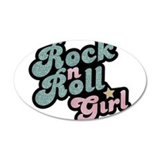 Rock N Roll Girl Wall Decal