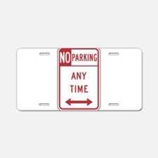 No Parking Aluminum License Plate