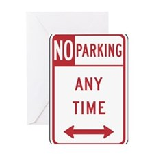 No Parking Greeting Cards