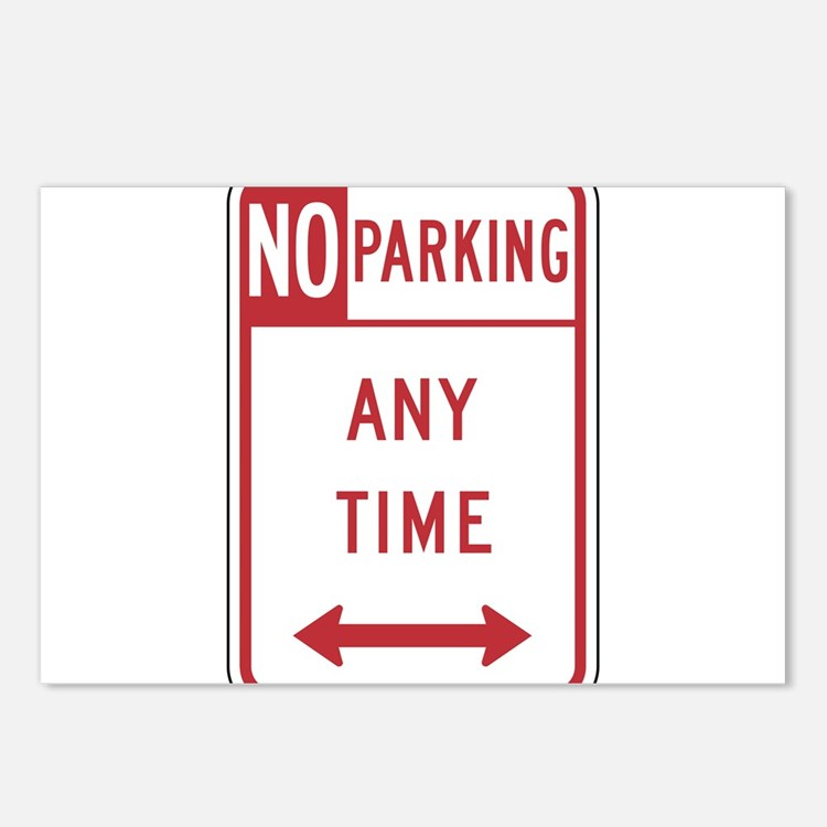 Ticket sign postcards ticket sign post card design template for No parking signs template