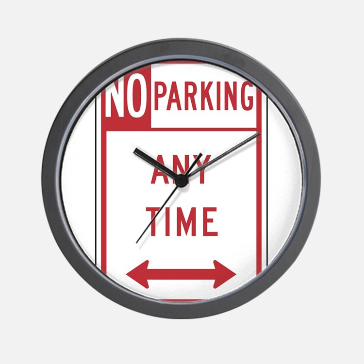 No Parking Wall Clock