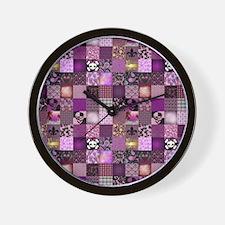 HANNAH'S PATCHWORK Wall Clock