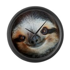 Buttercup The Sloth On Large Wall Clock