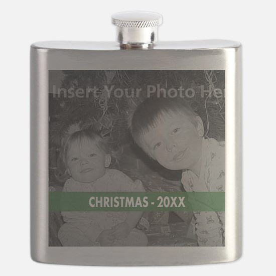 Modern Christmas Green Flask