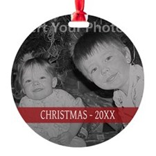Modern Christmas Red Ornament