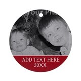 Christmas personalize Round Ornaments