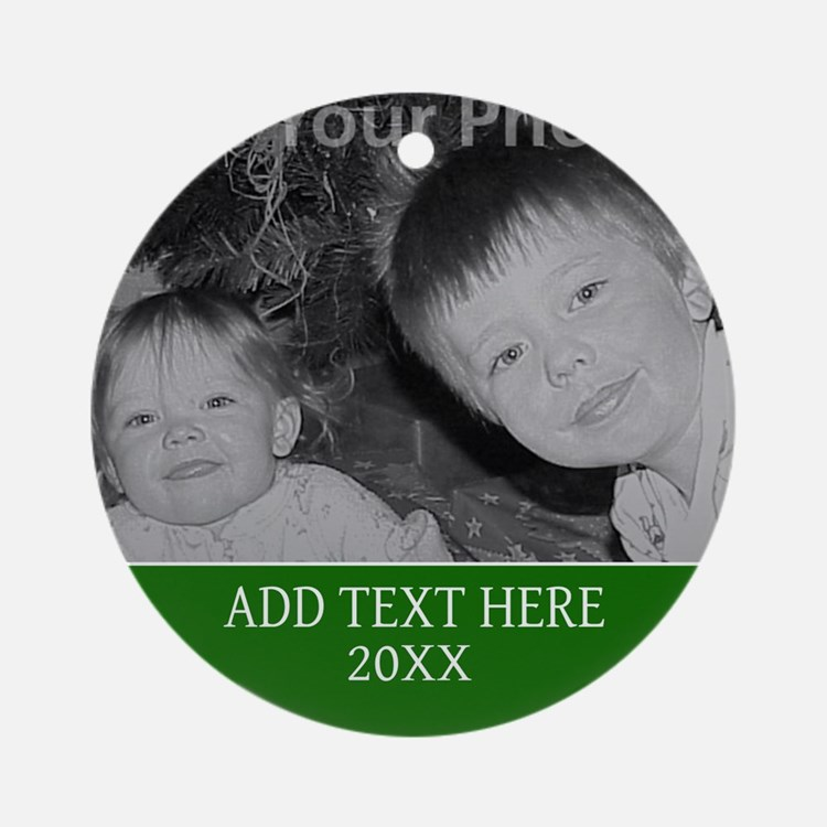 Completely Custom Green Ornament (Round)