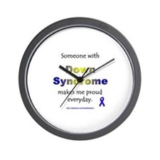 """""""Down Syndrome Pride"""" Wall Clock"""
