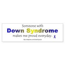 """""""Down Syndrome Pride"""" Bumper Bumper Sticker"""