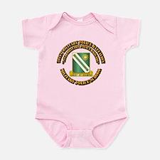 701st Military Police Bn w Text Infant Bodysuit