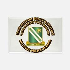 701st Military Police Bn w Text Rectangle Magnet
