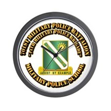 701st Military Police Bn w Text Wall Clock