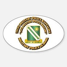 701st Military Police Bn w Text Sticker (Oval)