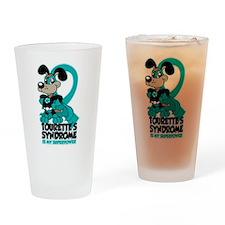 Tourette's Superpower Drinking Glass