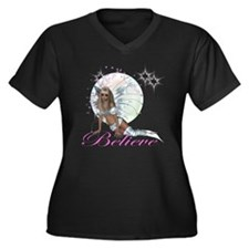 believe fairy moon.png Plus Size T-Shirt