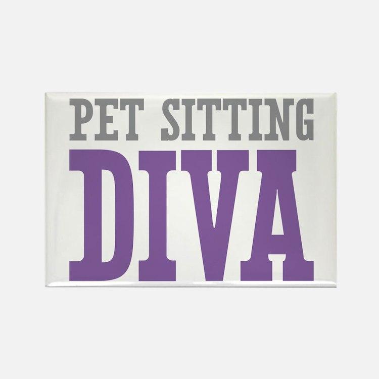 Pet Sitting DIVA Rectangle Magnet