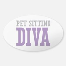 Pet Sitting DIVA Sticker (Oval)
