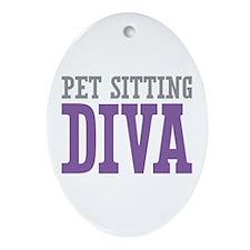 Pet Sitting DIVA Ornament (Oval)