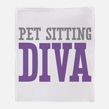 Pet Sitting DIVA Throw Blanket