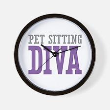Pet Sitting DIVA Wall Clock
