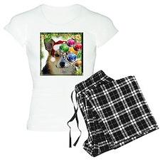 Handsome Holiday Corgi with Bulbs Pajamas