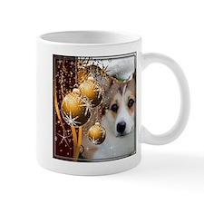 Holiday Sable Corgi Mugs