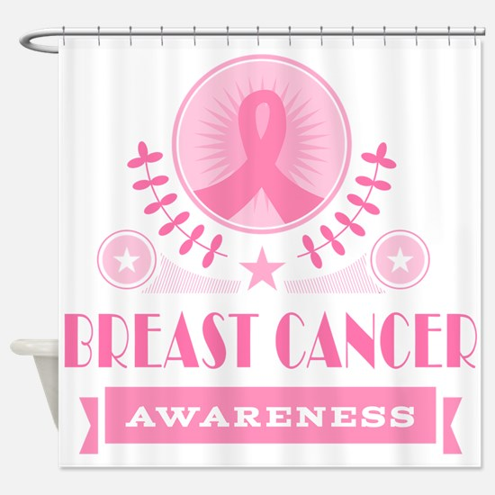 Breast Cancer Vintage Shower Curtain