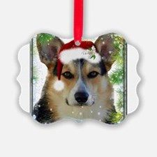 Handsome Holiday Corgi Ornament